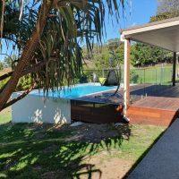 concrete swimming pool sloping block sunshine coast